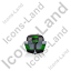 Motorboat Back Green Icon, PNG/ICO, 64x64