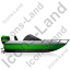 Motorboat Right Green Icon, PNG/ICO, 64x64