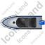 Motorboat Top Blue Icon
