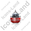 Rescue Lifeboat Front Red Icon, PNG/ICO, 64x64
