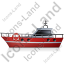 Rescue Lifeboat Left Red Icon, PNG/ICO, 64x64