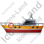 Rescue Lifeboat Left Yellow Icon