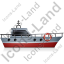 Rescue Lifeboat Right Grey Icon