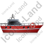 Rescue Lifeboat Right Red Icon