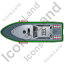 Rescue Lifeboat Top Green Icon