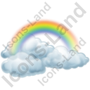 Clouds Rainbow Icon