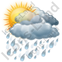Cloudy Mostly Rain Icon
