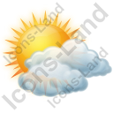 Cloudy Partly Icon, PNG/ICO, 128x128