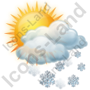 Cloudy Partly Snow Icon