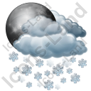 Night Snow Icon, PNG/ICO, 128x128