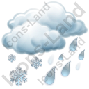 Sleet Showers Icon