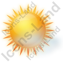 Sunny With Haze Icon, PNG/ICO, 128x128