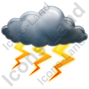 Thunderstorm Heavy Icon, PNG/ICO, 128x128