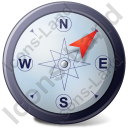 Wind Direction NE Icon, PNG/ICO, 128x128