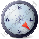 Wind Direction SE Icon, PNG/ICO, 128x128