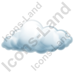 Cloud 2 Icon, AI, 256x256