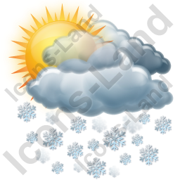 Cloudy Mostly Snow Icon