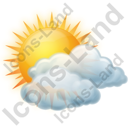 Cloudy Partly Icon, PNG/ICO, 256x256