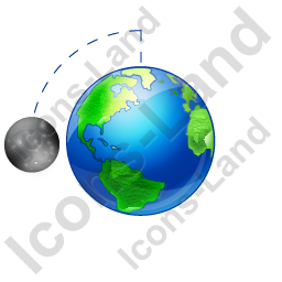 Moon Phase First Quarter Earth Icon