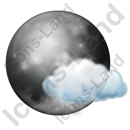 Night Clear Few Clouds Icon