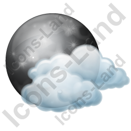 Night Cloudy Partly Icon