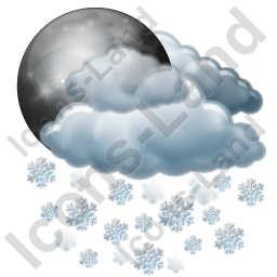 Night Snow Icon, AI, 256x256
