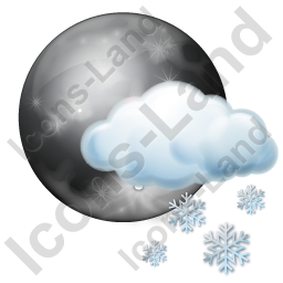 Night Snow Occasional Icon, AI, 256x256