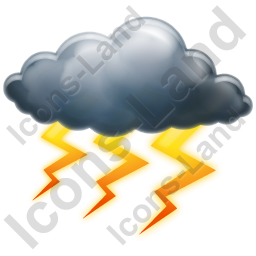 Thunderstorm Heavy Icon, PNG/ICO, 256x256