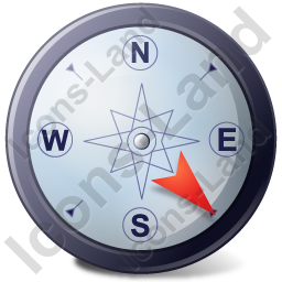 Wind Direction SE Icon, PNG/ICO, 256x256