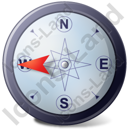 Wind Direction W Icon
