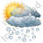 Cloudy Mostly Hail Icon