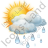 Cloudy Partly Rain Icon