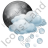Night Cloudy Partly Hail Icon