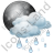Night Cloudy Partly Rain Icon, PNG/ICO, 48x48
