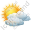 Cloudy Partly Icon, PNG/ICO, 64x64