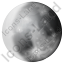 Moon Phase Waxing Gibbous Icon