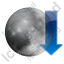 Moonset Arrow Icon, PNG/ICO, 64x64