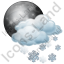 Night Cloudy Partly Snow Icon