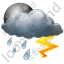 Night Thunderstorm Icon