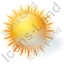 Sunny With Haze Icon, PNG/ICO, 64x64