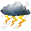 Thunderstorm Heavy Icon, PNG/ICO, 64x64