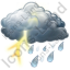 Thunderstorm Showers Icon